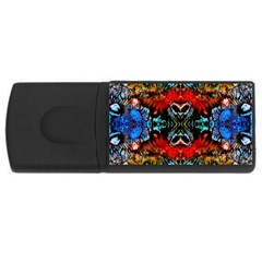 Colorful  Underwater Plants Pattern Usb Flash Drive Rectangular (4 Gb)  by Costasonlineshop