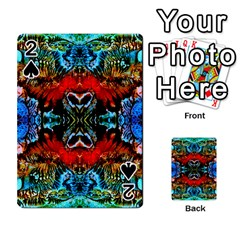 Colorful  Underwater Plants Pattern Playing Cards 54 Designs  by Costasonlineshop