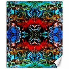 Colorful  Underwater Plants Pattern Canvas 8  X 10  by Costasonlineshop