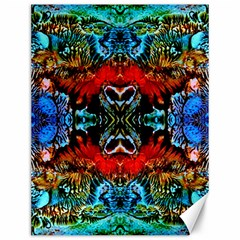 Colorful  Underwater Plants Pattern Canvas 12  X 16