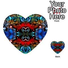 Colorful  Underwater Plants Pattern Multi Purpose Cards (heart)  by Costasonlineshop