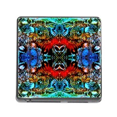 Colorful  Underwater Plants Pattern Memory Card Reader (square)