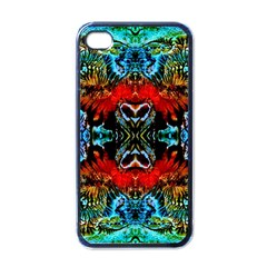 Colorful  Underwater Plants Pattern Apple Iphone 4 Case (black) by Costasonlineshop