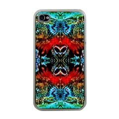 Colorful  Underwater Plants Pattern Apple Iphone 4 Case (clear) by Costasonlineshop