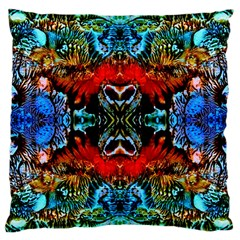 Colorful  Underwater Plants Pattern Large Cushion Case (two Sides) by Costasonlineshop