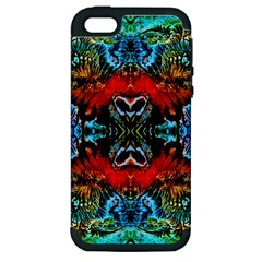 Colorful  Underwater Plants Pattern Apple Iphone 5 Hardshell Case (pc+silicone)