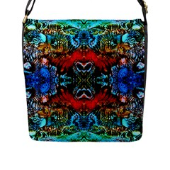 Colorful  Underwater Plants Pattern Flap Messenger Bag (l)  by Costasonlineshop