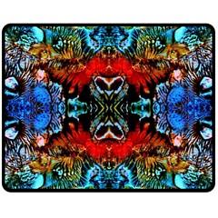 Colorful  Underwater Plants Pattern Double Sided Fleece Blanket (Medium)  by Costasonlineshop