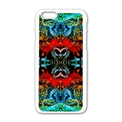 Colorful  Underwater Plants Pattern Apple Iphone 6/6s White Enamel Case by Costasonlineshop