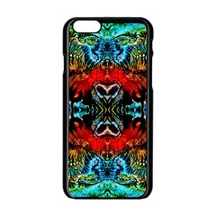 Colorful  Underwater Plants Pattern Apple Iphone 6/6s Black Enamel Case by Costasonlineshop