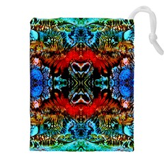 Colorful  Underwater Plants Pattern Drawstring Pouches (xxl)