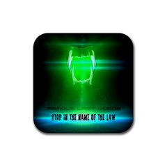 Stop In The Name Of The Law Rubber Square Coaster (4 Pack)
