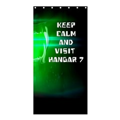 Keep Calm And Visit Hangar 7 Shower Curtain 36  X 72  (stall)  by RespawnLARPer