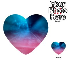 Aura By Bighop Collection Multi Purpose Cards (heart)  by bighop