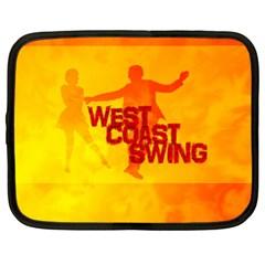 West Coast Swing Netbook Case (large)