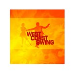 West Coast Swing Small Satin Scarf (Square)