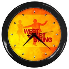 West Coast Swing Wall Clocks (black)