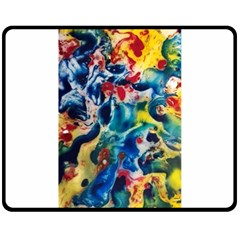 Colors Of The World Bighop Collection By Jandi Double Sided Fleece Blanket (medium)
