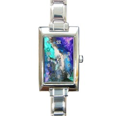Violet Art Rectangle Italian Charm Watch by 20JA