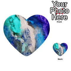 Violet Art Multi Purpose Cards (heart) by 20JA