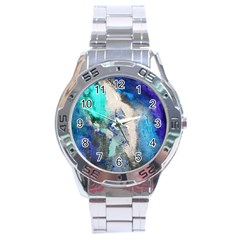 Violet Art Stainless Steel Analogue Watch by 20JA