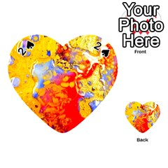 Gold And Red Playing Cards 54 (heart)