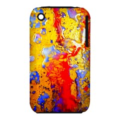 Gold And Red Apple Iphone 3g/3gs Hardshell Case (pc+silicone) by 20JA