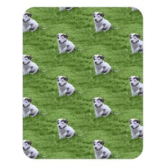 Pit Bull T Bone Puppy Double Sided Flano Blanket (large)  by ButThePitBull