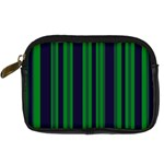 Dark Blue Green Striped Pattern Digital Camera Cases