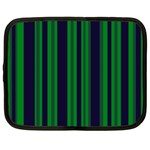 Dark Blue Green Striped Pattern Netbook Case (XL)