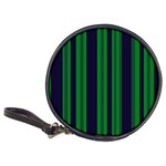 Dark Blue Green Striped Pattern Classic 20-CD Wallets