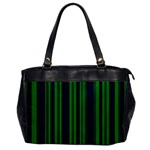 Dark Blue Green Striped Pattern Office Handbags
