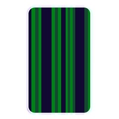 Dark Blue Green Striped Pattern Memory Card Reader by BrightVibesDesign