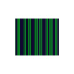 Dark Blue Green Striped Pattern Shower Curtain 48  x 72  (Small)  by BrightVibesDesign