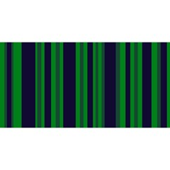 Dark Blue Green Striped Pattern You Are Invited 3d Greeting Card (8x4)