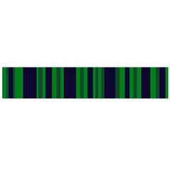 Dark Blue Green Striped Pattern Flano Scarf (Large) by BrightVibesDesign