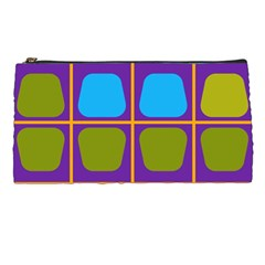 Shapes In Squares Pattern 	pencil Case