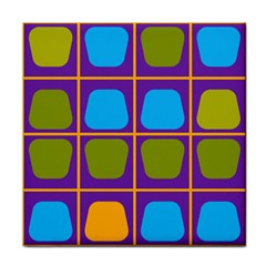Shapes In Squares Pattern 			tile Coaster by LalyLauraFLM