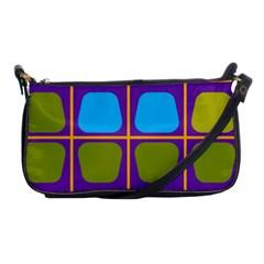 Shapes In Squares Pattern shoulder Clutch Bag by LalyLauraFLM