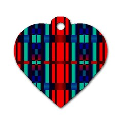 Stripes And Rectangles  dog Tag Heart (one Side) by LalyLauraFLM
