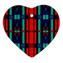 Stripes And Rectangles  			ornament (heart) by LalyLauraFLM