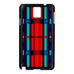 Stripes And Rectangles  			samsung Galaxy Note 3 N9005 Case (black) by LalyLauraFLM