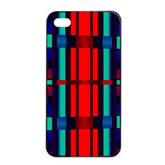 Stripes And Rectangles  			apple Iphone 4/4s Seamless Case (black) by LalyLauraFLM