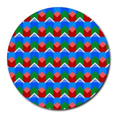 Shapes Rows round Mousepad by LalyLauraFLM