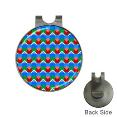Shapes Rows golf Ball Marker Hat Clip by LalyLauraFLM