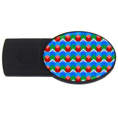Shapes Rows 			usb Flash Drive Oval (4 Gb) by LalyLauraFLM
