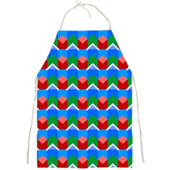 Shapes Rows full Print Apron by LalyLauraFLM