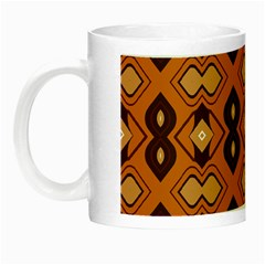 Brown Leaves Pattern Night Luminous Mug by LalyLauraFLM
