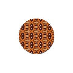 Brown Leaves Pattern 			golf Ball Marker by LalyLauraFLM