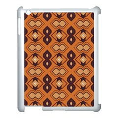 Brown Leaves Pattern apple Ipad 3/4 Case (white) by LalyLauraFLM